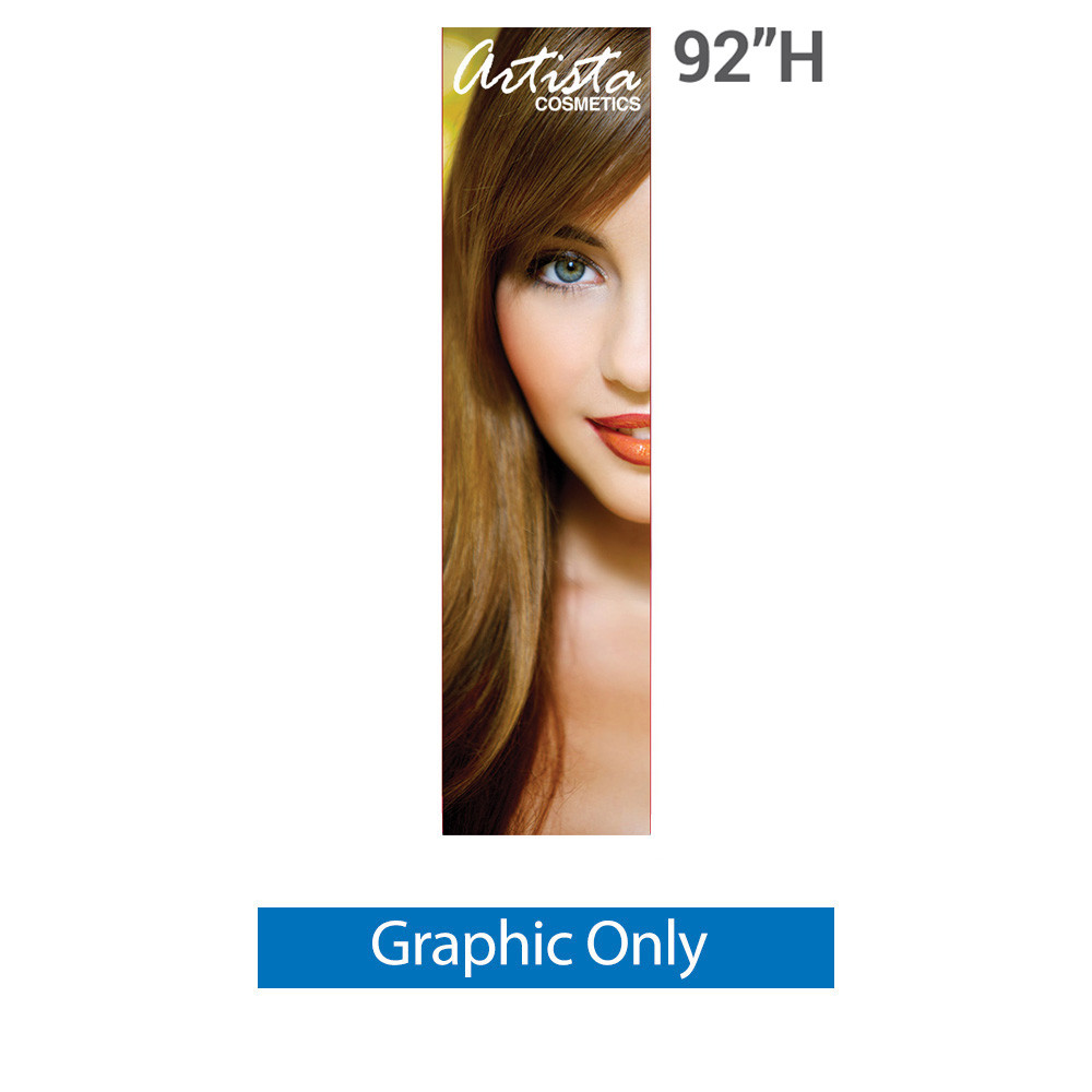 33.5 x 69 Hybrid Graphic Package Stand /& Graphic Personalized Silverwing Single-Sided